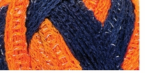 Red Heart Boutique Sashay Team Spirit Yarn Orange, Navy
