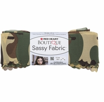 Red Heart Boutique Sassy Fabric Yarn Camouflage