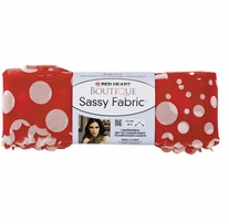 Red Heart Boutique Sassy Fabric Yarn Red Dot