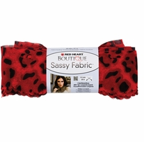 Red Heart Boutique Sassy Fabric Yarn Red Leopard