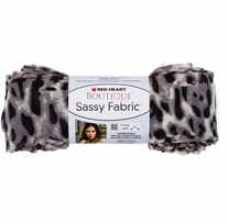 Red Heart Boutique Sassy Fabric Yarn Snow Leopard