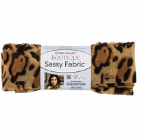 Red Heart Boutique Sassy Fabric Yarn Tan Leopard