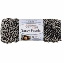 Red Heart Boutique Sassy Fabric Yarn White Cheetah