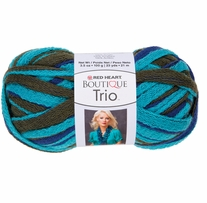 Red Heart Boutique Trio Yarn Aegean