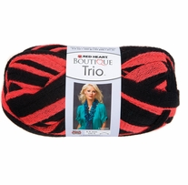 Red Heart Boutique Trio Yarn Coral Kick