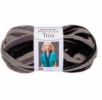 Red Heart Boutique Trio Yarn Grey Scale