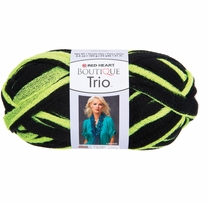 Red Heart Boutique Trio Yarn Neon Yellow