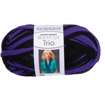Red Heart Boutique Trio Yarn Pretty Purple