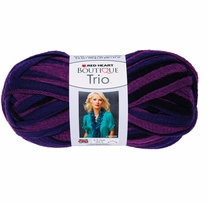 Red Heart Boutique Trio Yarn Regal
