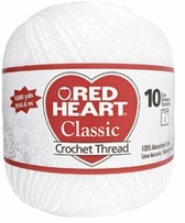 Red Heart Classic Crochet Thread 1000 Yards