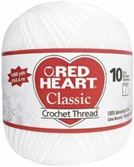 Red Heart Classic Crochet Thread 1000 Yards - Click to enlarge