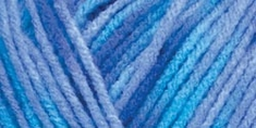 Red Heart Comfort Yarn Turquoise, Blue Prints - Click to enlarge