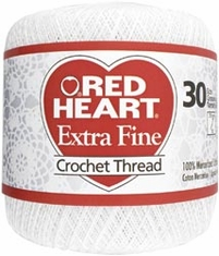 Red Heart Extra Fine Crochet Thread - Click to enlarge