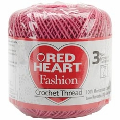Red Heart Fashion Crochet Thread Size 3 - Click to enlarge