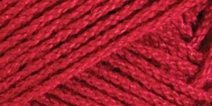 Red Heart Luster Sheen Yarn Cherry Red - Click to enlarge