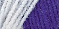 Red Heart Team Spirit Yarn Purple, White