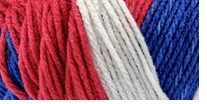 Red Heart Team Spirit Yarn Red, White & Blue