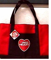 Red Heart Yarn Tote