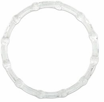 Round Bamboo Plastic Purse Handle 6in Clear