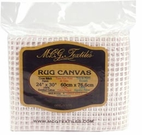 Rug Canvas 24inX30in 3.75 Mesh White