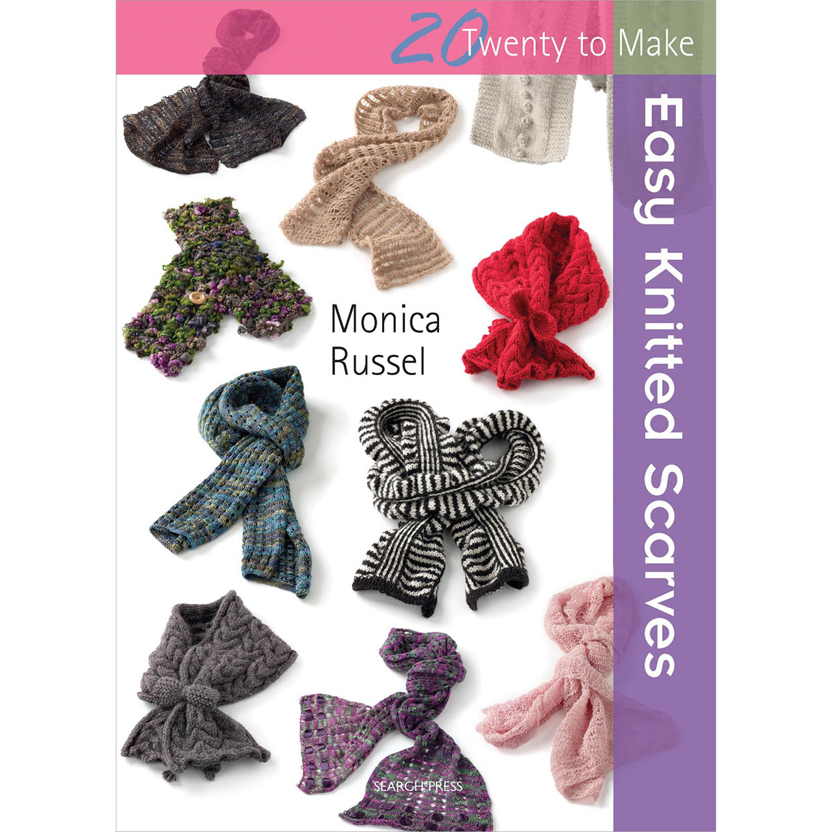 Knitted Scarf Pattern Books : Search Press Books Easy Knitted Scarves (20 To Make)