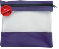 Seeyourstuff 10inX11in Clear Storage Bags Purple
