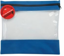 Seeyourstuff 12inX13in Clear Storage Bags Royal