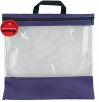 Seeyourstuff 16inX16in Clear Storage Bags Purple