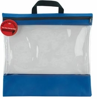 Seeyourstuff 16inX16in Clear Storage Bags Royal