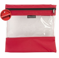 Seeyourstuff Clear Storage Bags Red 10in x 11in