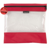 Seeyourstuff Clear Storage Bags Red 12x13