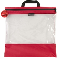 Seeyourstuff Clear Storage Bags Red 16x16