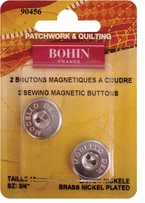 Sew On Magnetic Button Nickel Plated