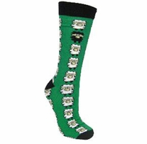 Sheep Adult Socks Emerald and Black Multi
