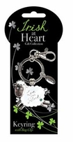 Sheep Irish At Heart Keyring