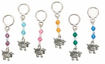 Sheep Stitch Markers Six Assorted Styles