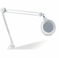 Slimline LED 5 Magnifying Lamp White