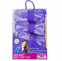 Sparkle Ruffle Scarf Kit Purple