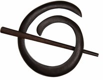 Spiral Shawl Pin Ebony
