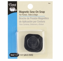 Square Magnetic Snaps 1-1/8 Black 1 Pair