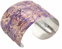 Stainless Steel Cuff Bracelet Purple