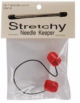 Stretchy Needle Keeper For 7in Double Point Needles Red