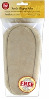 Suede Slipper Soles Woman's Size 6 To 7 1/2