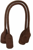 Suede Tote Handles 24in Dark Brown