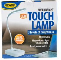 Super Bright LED Touch Lamp White