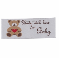 Sweetheart Labels Made With Love For Baby
