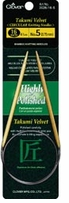 Takumi Velvet Circular Knitting Needles 16in Bamboo