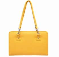 Thames Faux Leather Bag Yellow