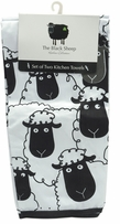 The Black Sheep Kitchen Towels Set Of Two