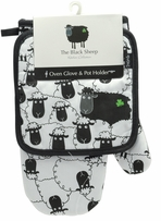 The Black Sheep Oven Glove & Pot Holder Set